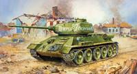 WWII Soviet T34/85 Medium Tank (Snap) 1/100 Zvezda