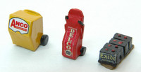 Custom Gas Station Service Set: Wiper Boxes/Batteries (3) HO Scale JL Innovative