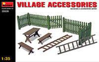 Village Accessories (Fences, Table w/Benches, Ladders) 1/35 Miniart
