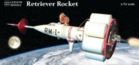 Retriever-1 Round-The-Moon Rocket 1/72 Glencoe Models