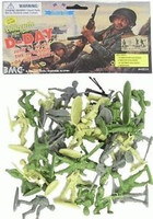 D-Day Invasion of Normandy Figure Playset (34pcs) 54mm Playsets