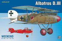 Albatros D III Biplane (Wkd Edition Plastic Kit) 1/48 Eduard