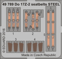 Seatbelts Do 17Z-2 Steel for ICM (Painted) 1/48 Eduard