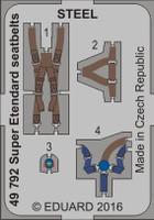 Seatbelts Super Etendard Steel for KTY (Painted) 1/48 Eduard
