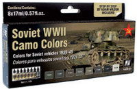 Soviet Vehicles WWII Camo Colors Model Air Paint Set (8 Colors) Vallejo Paint
