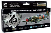 Soviet Air Force VVS 1941 to 1943 Great Patriotic War Model Air Paint Set (8 Colors) Vallejo Paint