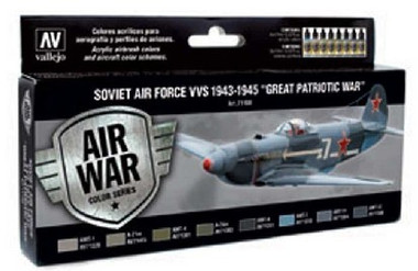 Soviet Air Force VVS 1943 to 1945 Great Patriotic War Model Air Paint Set (8 Colors) Vallejo Paint