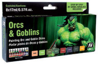 Orcs & Goblins Game Color Paint Set (8 Colors) Vallejo Paint