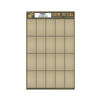 "Canvas Fabric-Type w/White Base, 20-segments 60mmx32mm (7""x10"") (Decals) 1/32 HGW Models"