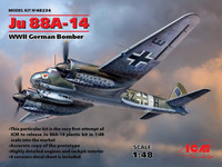 WWII German Ju 88A-14 Bomber 1/48 ICM Models