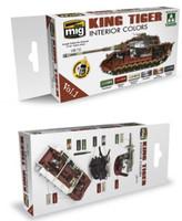 King Tiger Interior Color Acrylic Paint Set (Takom Edition) AMMO of Mig Jimenez