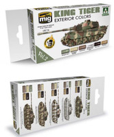 King Tiger Exterior Color Acrylic Paint Set (Takom Edition) AMMO of Mig Jimenez