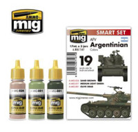 AFV Argentinian Color Acrylic Paint Set AMMO of Mig Jimenez