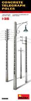 Concrete Telegraph Poles (4 diff. types) 1/35 Miniart