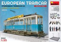 European Tramcar 641 w/Crew, Passengers, Street Access & Tram Line Base 1/35 Miniart