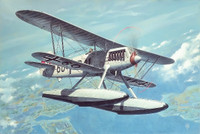 Heinkel He 51B-2 BiPlane Fighter w/Floats 1/48 Roden