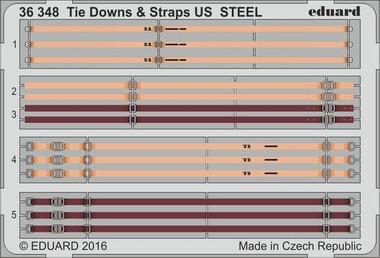 Tie Downs & Straps US Steel (Painted) 1/35 Eduard