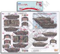 KFOR BMP-1s: Czech BVP-1, Polish BWP-1 & Solvak BVP-1 1/35 Echelon Decals
