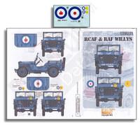 RCAF & RAF Willys 1/35 Echelon Decals