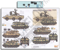 Syrian AFVs (Syrian Civil War 2011) Part 2 ZSU23-4 & 9K33M2 1/35 Echelon Decals