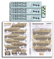 5. SSPzDiv Wiking Sdkfz 251 Ausf D Generics 1/35 Echelon Decals