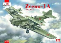 Soviet Zveno-1A TB-1 Mothership Aircraft w/2 I-5 Soviet Fighters 1/72 A-Model