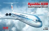 Ilyushin-62M Soviet Passenger Aircraft 1/144 ICM Models