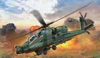 AH-64A Apache US Army Combat Helicopter 1/100 Revell Germany