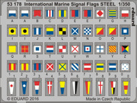 International Marine Signal Flags Steel (Painted) 1/350 Eduard