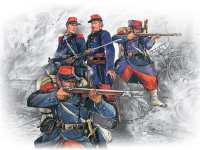 French Line Infantry French-German War 1870-1871 (4) 1/35 ICM Models