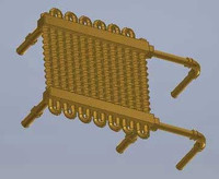 F Unit Roof Mount Radiator Sideways Piping HO Scale Cal Scale