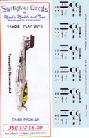 E/A-6B Prowlers VMAQ2 Play Boys Air Wing 8 USS Nimitz 1981 for TAM 1/350 Starfighter Decals
