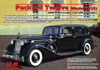 WWII Soviet Packard Twelve Mod 1936 Leader Car w/4 Figures 1/35 ICM Models