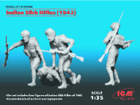 Indian Sikh Rifles 1942 Figure Set (4) 1/35 ICM Models