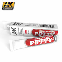 White Acrylic Modeling Hard Putty 20ml Tube AK Interactive