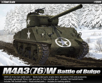 M4A3(76)W US Main Battle Tank Battle of Bulge 1/35 Academy