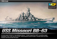 1/700 USS Missouri BB63 Mighty Mo Battleship Academy