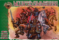 Mounted Cimmerians Figures (10 & 1 foot) 1/72 Alliance Figures