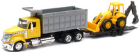 Int'l Lonestar Dump Truck w/Wheel Loader (Die Cast) 1/43 New Ray