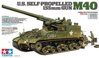 US M40 155mm Self-Propelled Artillery Tank w/8 Crew 1/35 Tamiya