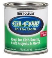 1/2 Pint Can Glow-In-The-Dark Luminous Paint Rustoleum