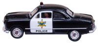 Just Plug: Police Car Lighted Vehicle HO Scale Woodland Scenics
