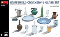 Household Crockery & Glass Set 1/35 Miniart
