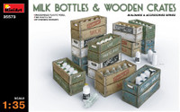 Milk Bottles & Wooden Crates 1/35 Miniart