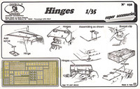 Hinges, various types (Photo-Etch) 1/35 Royal Model