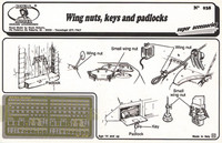Wing Nuts, Keys, Padlocks (Photo-Etch) 1/35 Royal Model