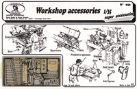 Workshop Accessories: various tools, welding mask, etc. (Photo-Etch) 1/35 Royal Model