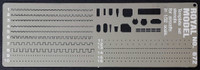 Scribing Template Stencils Set for 1/32 Planes (Photo-Etch) Royal Model