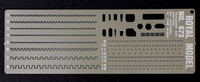 Scribing Template Stencils Set for 1/48 Planes (Photo-Etch) Royal Model