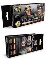 Flesh Tones Acrylic Paint Set (6 colors) AMMO of Mig Jimenez